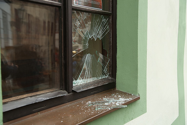 A2B Glass are able to board up broken windows while they are being repaired in Wealdstone.